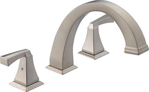 - Delta Faucet T2751-SP Dryden Roman Tub Trim, SpotShield Stainless,