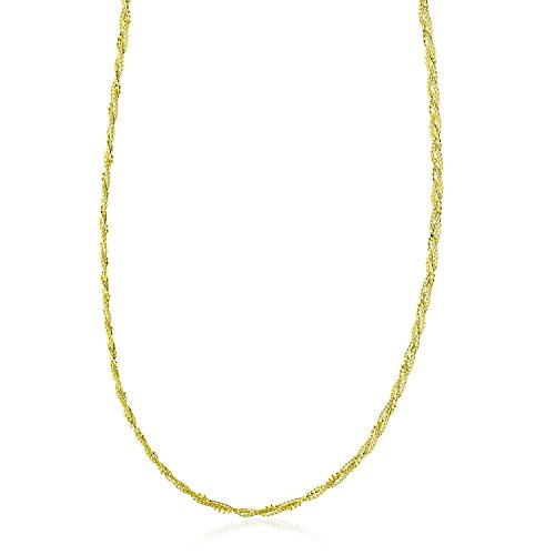 14k Braided Bead Chain - 14K Yellow Gold Wheat and Bead Chain Braided Necklace For Women With Lobster Claw, Simulated