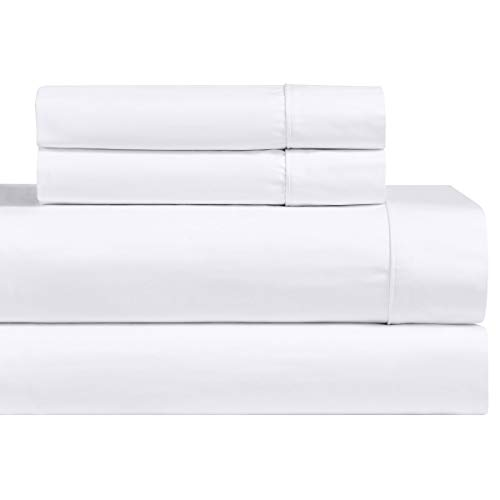 Royal Hotel Solid White Split Top King: Adjustable King Bed Size Sheets, 4PC Bed Sheet Set, 100% Cotton, 1000 Thread Count, Sateen Weaving- Deep Pocket