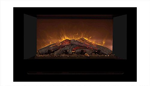 Cheap Modern Flames Home Fire Series Electric Fireplace with Log Set and Black Glass Side Panels 42-Inch Black Friday & Cyber Monday 2019