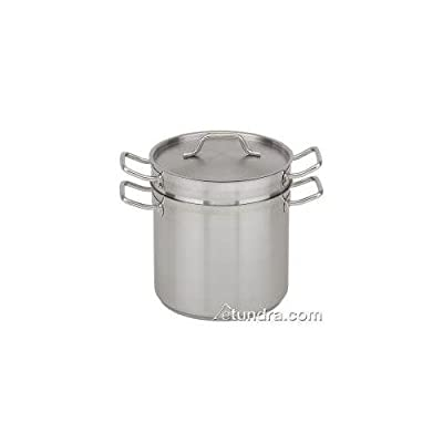 Stainless Steel Double Boiler with Lid, 8 qt