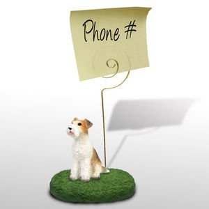 Terrier Wire - Wire Hair Fox Terrier Memo / Photo Holder