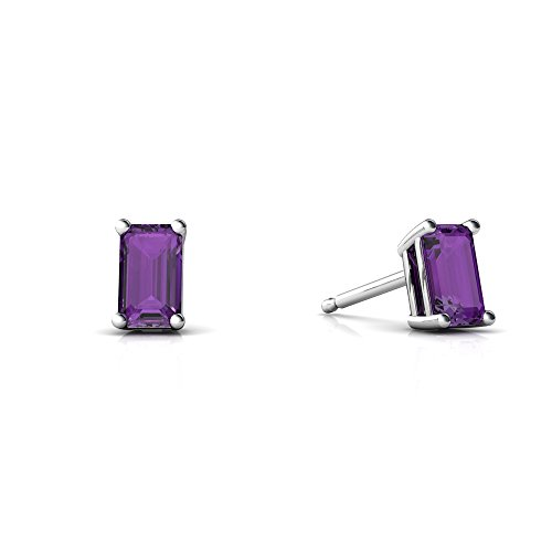 5x3mm Emerald Cut Amethyst Ring - 1