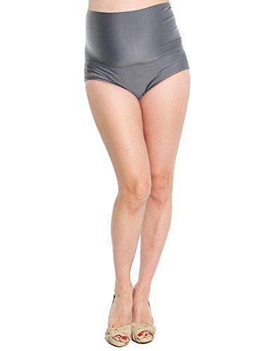 Maternity Bathing Swimsuit (Oceanlily Over The Belly Maternity Bikini Bottom Charcoal M)