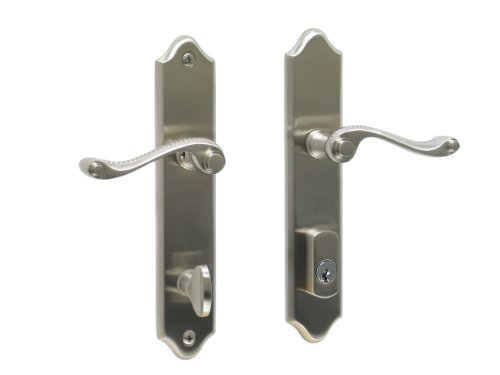 Piedmont by FPL- Solid Brass Active Trim Only Lever Set for Multipoint Lock, Schlage Keyway, Satin Nickel