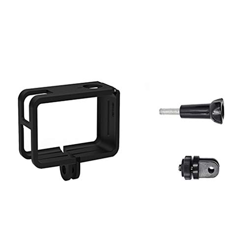 Sodoop Protection Case for DJI Osmo Action 4K Camera Black Skeleton Housing Sport Camera Shell Box Frame Mount with Long Screw Adapter Protective Lens Accessories ()