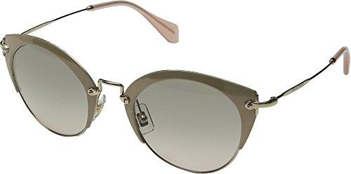 Miu Miu Women's Enameled Cat Eye Sunglasses, Pink Gold/Brown, One - Eye Miu Miu Pink Sunglasses Cat