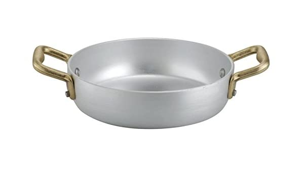 Ottinetti 1563014 Brushed Aluminum Skillet with Copper Handle 14cm//5.5-Inch