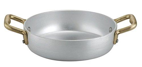 Ottinetti 1566014 Brushed Aluminum Sauteuse with 2-Copper Handles, (Copper Sauteuse)