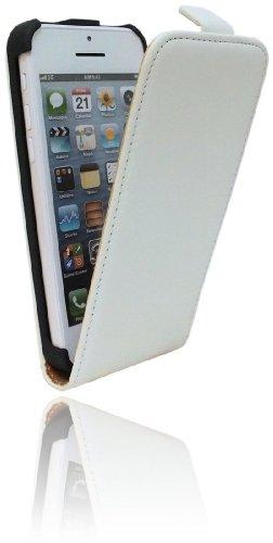 Handytasche Flip Style für das Iphone 5C in Weiß Klapptasche Hülle @ Energmix