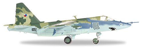 Herpa 82MLCZ7205–Czech Air Force Sukhoi Su 25K Frog Foot and 8722ZTL by 32nd–Pardubice–Czech Republic Airplane 1996