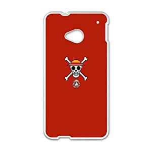 Durable Hard cover Customized TPU case One Piece Luffy San HTC One M7 Cell Phone Case White