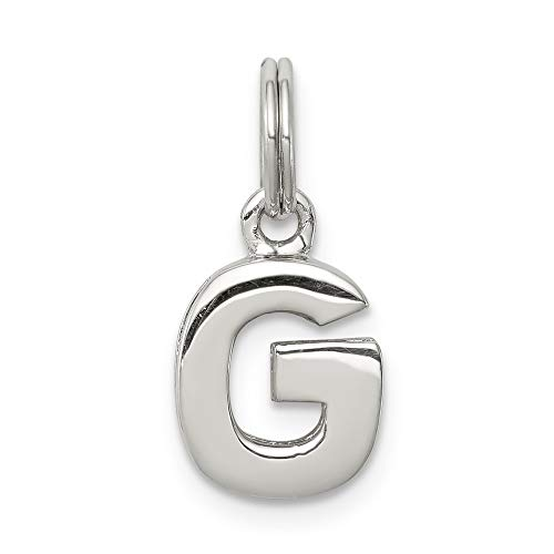 925 Sterling Silver G Pendant Charm Necklace Initial Fine Jewelry Gifts For Women For Her