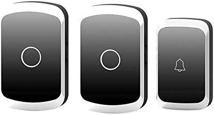 コードレスプラグインドアベル、家庭用防水リモートドアベル36メロディーと4レベルボリューム1000Ft範囲(1プッシュボタンと2レシーバー),3