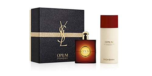 Yves Saint Laurent Opium Gift Set: 3 Oz Eau de Toilette Spray + 6.6 oz Body Moisturizer -
