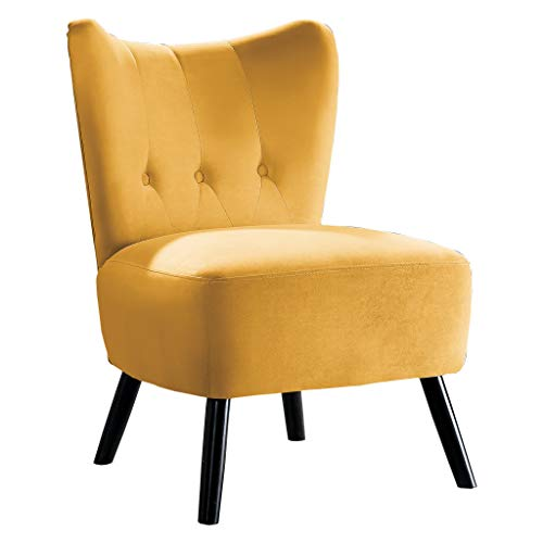 Homelegance Imani Velvet Accent Chair, Yellow (Chairs Accent Yellow)