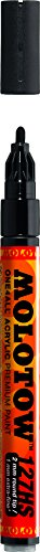Molotow ONE4ALL Acrylic Paint Marker, 2mm, Signal Black, 1 Each (127.212)