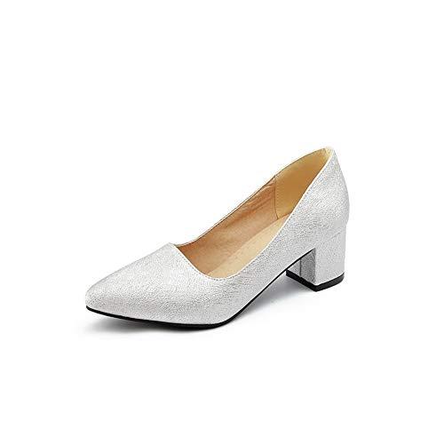Womens Shoes Urethane Pumps Baguette Dance Silver Style BalaMasa APL10612 Ballroom Solid 6pT1THW