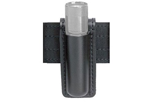 Safariland 306 Open Top Mini Flashlight Carrier, Basketweave Black, SureFire 6P, Basketweave Black