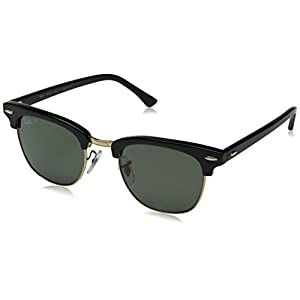 Ray-Ban Sunglasses - RB3016 Clubmaster / Frame: Black Lens: Green Polarized (49mm)