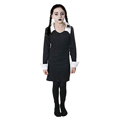 Girls Wednesday Addams Family Halloween Fancy Dress Costume Outfit 4-14 years ()