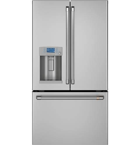 Cafe CFE28TP2MS1 Matte Collection Series 36 Inch French Door Refrigerator in Stainless Steel