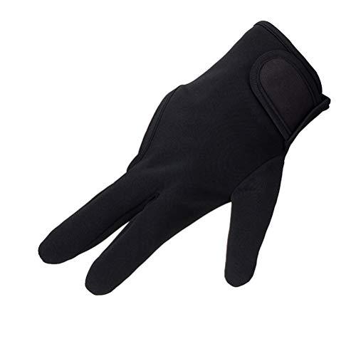 Lurrose Guante de dedo resistente al calor Guantes de estilo termico Salon Aislamiento 3 Dedos Guante (Negro)