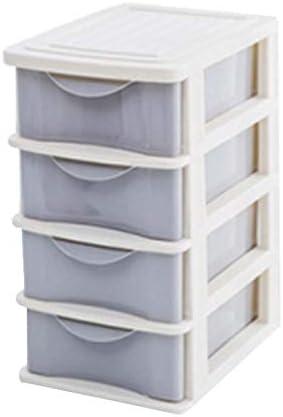 Büro Kunststoff Desktop Aufbewahrungsbox Schubladen Organizer, Grau 02