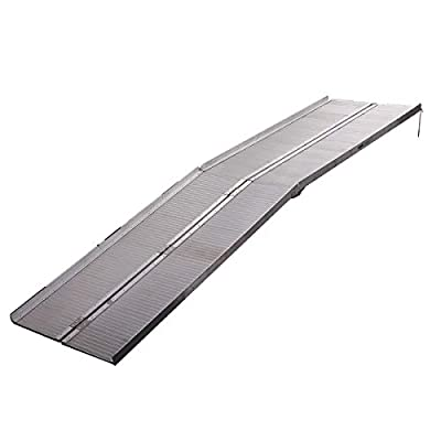 Ramp Aluminum 10' ft Multifunctional Portable Wheelchair Scooter Mobility Ramp with Carry Handle, 120''
