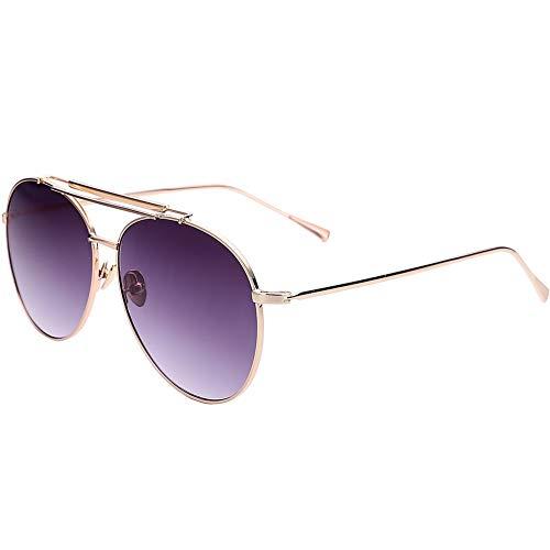 sol reflexivas caja de Gafas de las alrededor de gafas la de coloridas grandes NIFG clásicas sol pSga4gTq