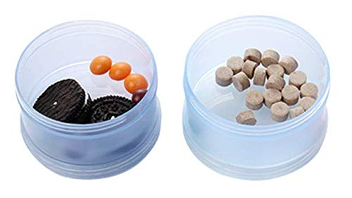 Wuudi- Caja de polvo de leche portátil para bebé, multicapa, con polvo de leche de color, caja de aperitivos, gran capacidad desmontable, latas de leche en ...