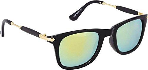 8e8e0fe9757 Sheomy Fashion Wayfarer Goggle and Sunglasses for Men Branded Women Boys  and Girls Unisex (Golden
