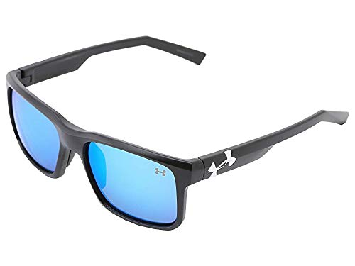 Under Armour Align Satin Black Frame, with Black Rubber and Gray-Blue Multiflection Lens
