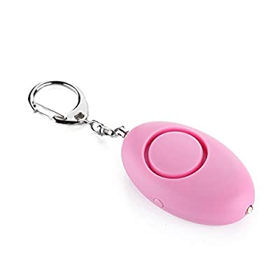 Portable Personal Alarm with LED Spot Light by Capsloc - 120db Anti-Rape Safety Running Emergency Siren Keychain Women Self-Defense Use Battery (Pink)