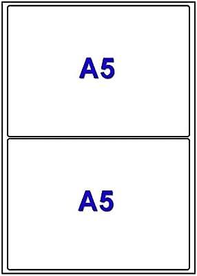 20 de la hoja A4 2 pegatina 199,6 x 143,5 mm etiqueta adhesiva ...