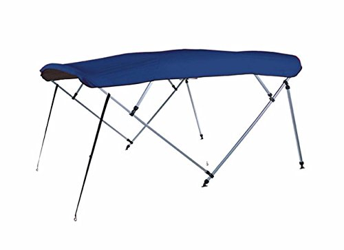 BLUE 7oz BOAT BIMINI TOP, SUNSHADE without Running Light Cutout FOR SUNTRACKER PARTY BARGE 24 DLX 2013-2014