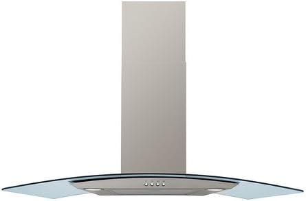 IKEA KLARLUFT - Wall campana extractora montada, acero inoxidable, vidrio - 90 cm: Amazon.es: Grandes electrodomésticos