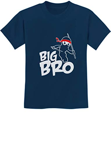 TeeStars - Big Brother Gift Idea for Elder Sibling - Ninja Boy Kids T-Shirt Small Navy