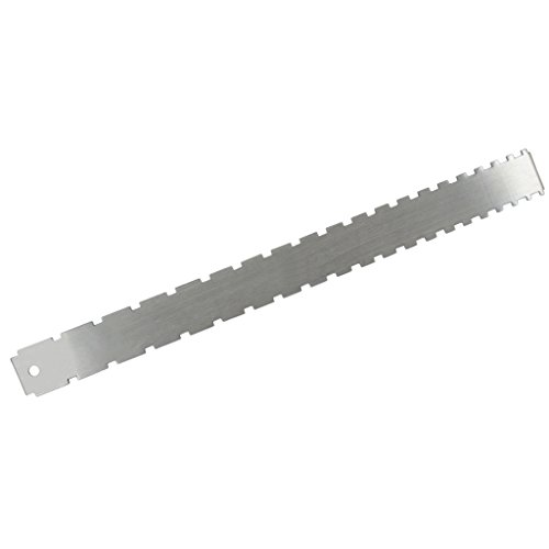 Fenteer 1Pcs Stainless Steel Guitar Bass Fretboard & Neck Notched Straight for Luthier Tools DIY