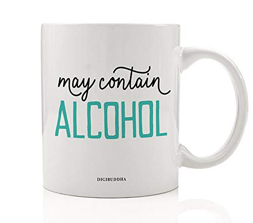 Corona Coffee - MAY CONTAIN ALCOHOL Funny Beverage Mug Gift Idea Booze Hid in Plain Sight Christmas Holiday Birthday Present for Day Drinker Friend Coworker Relative 11oz Ceramic Coffee Tea Cup Digibuddha DM0790
