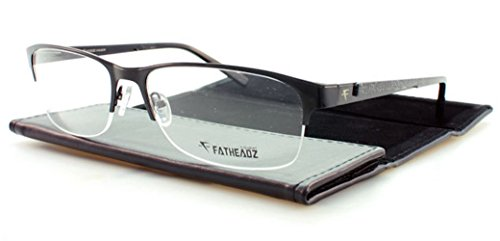 Fatheadz Dfens Extra Extra Large Black Half-Rimless Prescription Eyeglasses