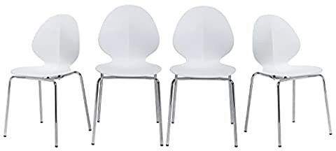 x3010;Lowest Pricex3011;Merax Best-selling Molded Plastic Chairs with Sturdy Metal Legs ,Set of 4 (Plastic Chairs Set Of 4)