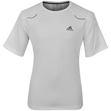 Adidas Blanco Mens Adna poliéster Camiseta de Fitness de Manga Corta T Extra Grande Mens X21139: Amazon.es: Deportes y aire libre