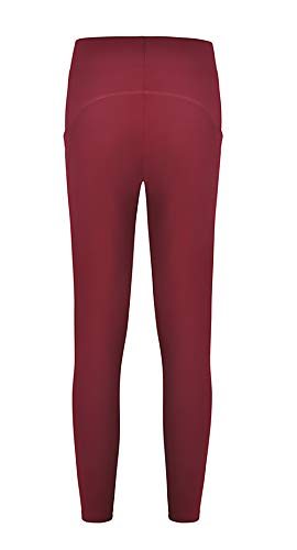 Avant Battercake Treggins Étendue Taille Haute Dame Couleur Poches Branché Yoga Femme Pantalon Unie Casual Winered Trousers Automne Sport xF4qxH7nBw