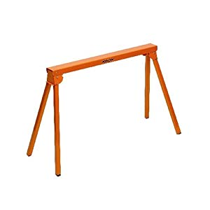 All Steel Folding Sawhorse Portamate PM-3300. 33-Inch Tall Fold-up Heavy Duty Saw Horse. Fully Assembled, 500 lb. Capacity and Quickly Folds Up for Easy Storage