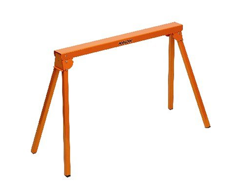 All Steel Folding Sawhorse Portamate PM-3300. 33-Inch Tall Fold-up Heavy Duty Saw Horse. Fully Assembled, 500 lb. Capacity and Quickly Folds Up for Easy Storage (Steel Folding Sawhorse)