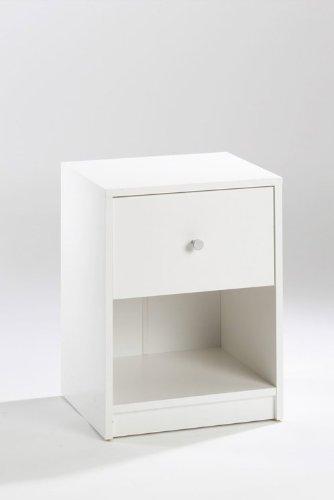 Tvilum Portland 1 Drawer Nightstand in White
