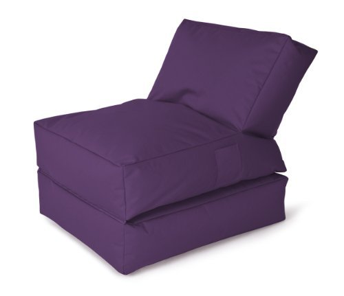 Magma Heimtex Sitzsack - Liege Twist Scuba - MAGMA (Aubergine) by Sitting Point