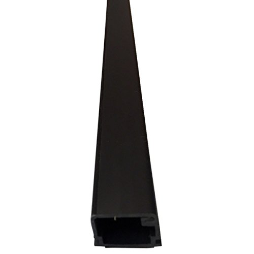 Small Latching Surface Cable Raceways - (5 x 5FT Sticks = 25FT) - Color: Black