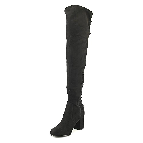 by Round David Charles Over Synthetic Microsuede Women Knee Boot Black Toe Charles The Ollie Xd41wXxq